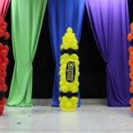 Decoración para fiesta de crayones