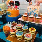 Pasteles para fiesta mini beat power rockers