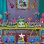Mesas de postres para fiesta mini beat power rockers