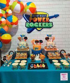 Decoración para fiesta de mini beat power rockers